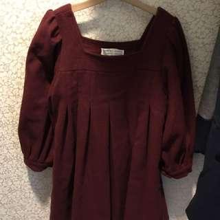 🚚 全新正韓公主袖厚針織上衣