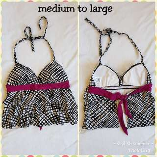 Tankini fits medium to large