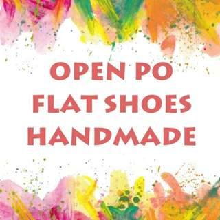 Open PO flat shoes hand made