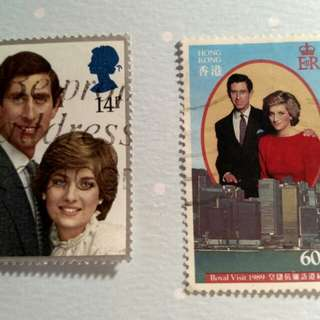 戴安娜查理斯郵票(英國和香港)