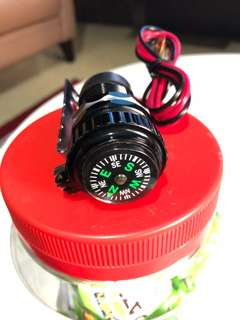 USB charger with compass