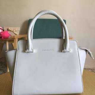 Lovely Charles and Keith Bag (Greyish baby blue)