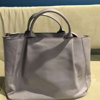 Furla leather satchel tote