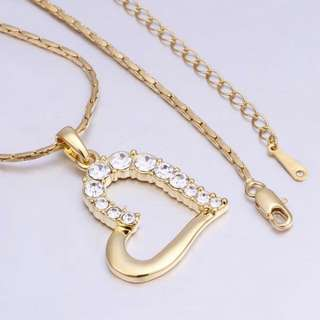 24k Gold Diamond Heart And 18k Necklace