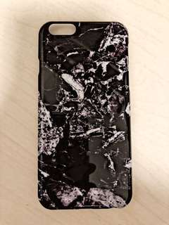 iPhone 6S BLACK MARBLE CASE