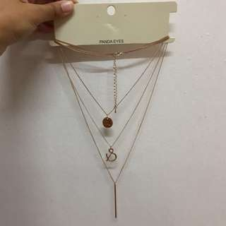 layer necklace (gold colour)
