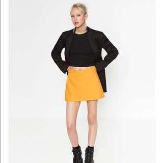 Zara yellow skort
