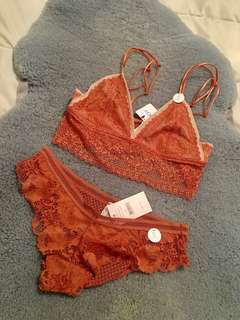 Brand new Lace Crop top and Brief set