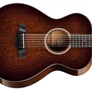 Black/Brown Acoustic Guitar