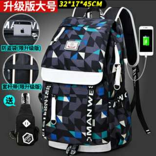Backpack / School Bag / with Charger