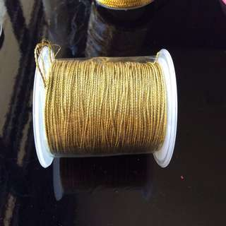 Strings - 1 roll of 1mm Gold Metallic Non-Elastic Cord