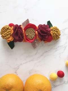 Customised Handmade Felt Flower Crown // CNY Edition
