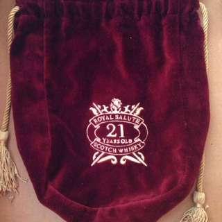 🔷9成8新 。《royal salute 酒 袋》