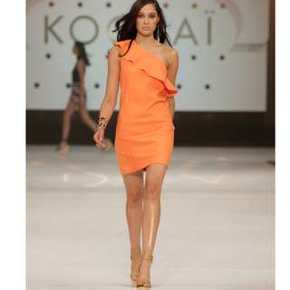 Kookai Orange Frill Dress