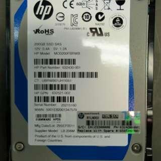 200 GB HP SSD SAS HDD