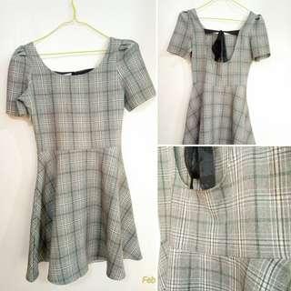 Plaid Office Dress