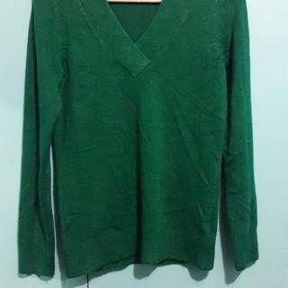 Reitmans Green Cardigan Sweatshirt