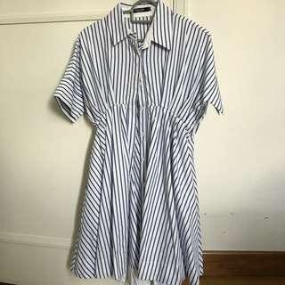 Button Down Stripe Dress