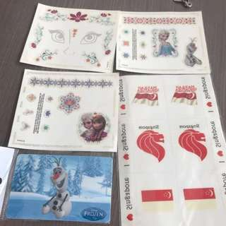 Assorted Disney Frozen Tattoo EZ Link Sticker Singapore Kids Instock