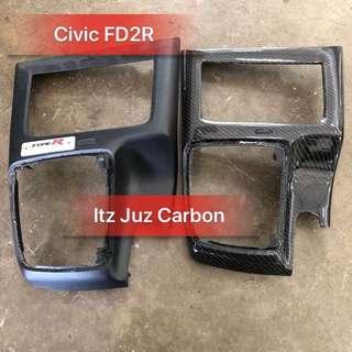 Civic FD2R carbon Gear panel console