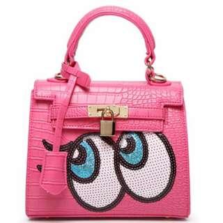 Big Eye Bag Rose Pink