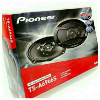 "[Brand New] Pioneer 6"" x 9"" 420 Watts 3 Way Oval Shape Deeper Bass Speaker . Model: TS-A6966S  (Brand new in box & sealed) . Usual Price:$ 129.90  Special Price:$ 79.90  lWhatsapp 85992490 to collect today."