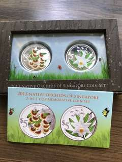 "Singapore 2013 ""Native Orchids"" Silver Proof Coin Set"
