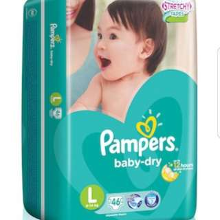 Pampers baby dry tape L size