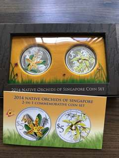 "Singapore 2014 ""Native Orchids"" Silver Proof Coin Set"