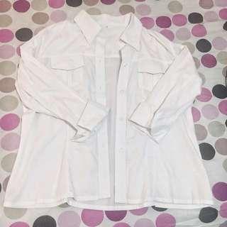 KOREAN OVERSIZED WHITE SHIRT