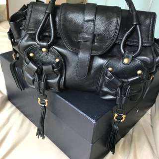 Black leather Ferragamo bag