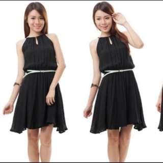 BN Black Keyhole Dress