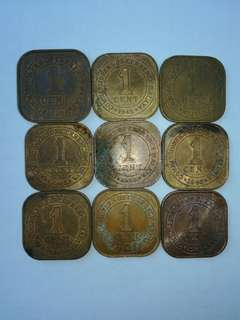 malaya 1 cent coin