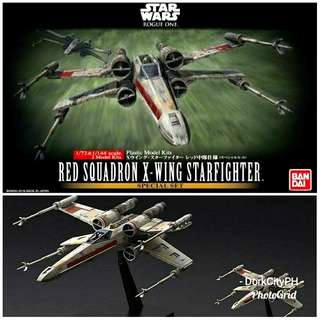 Red Squadron X-Wing Bandai Model Kit