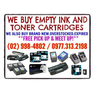 HIGHEST PRICE BUYING OF EMPTY INK AND TONER CARTRIDGES