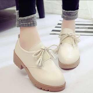 korean beige platform boots