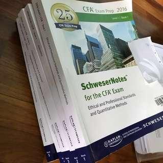CFA level 2016 Schweser textbooks
