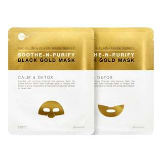 SkinInc Soothe-n-Purify Black Gold Mask