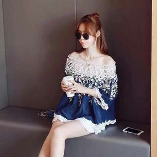 Offshoulder Embroided Top