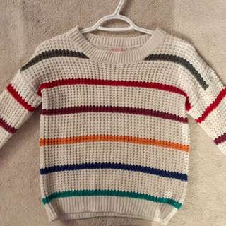 ardene knit sweater w/ colourful stripes