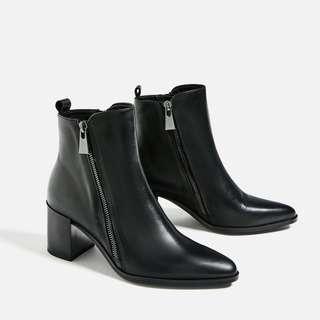 Bnwt Zara Pointed Heels Boots