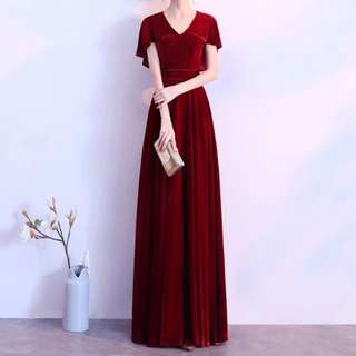 Batwing design red dress / evening gown