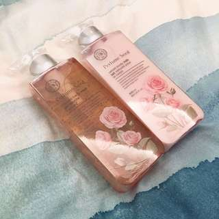The Face Shop Rose Perfume Seed Body Wash Milk Cleanser Scrub