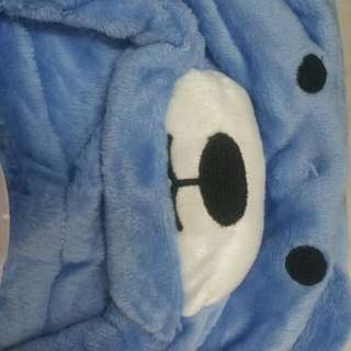 mollie&mommy blue bear baby blanket