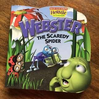 webster the scaredy spider
