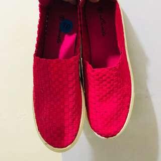 NWT✨Weaved Pink Slip Ons