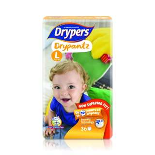 (2 Packets) Drypers Drypantz L