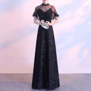 Seqin long black dress / evening gown