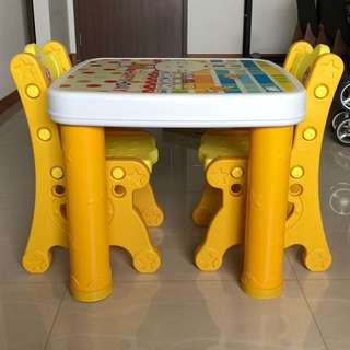 Kid table and chairs set