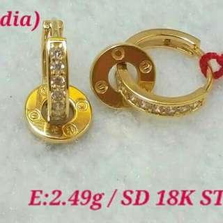 18K GOLD SAUDI EARRINGS
